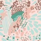 El color del vector pinta el modelo inconsútil de geométrico Textura abstracta Colores en colores pastel mármol Foto de archivo libre de regalías