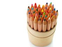 El color dibujó a lápiz el corazón Fotos de archivo libres de regalías