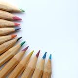 El color dibujó a lápiz el fondo imagen de archivo libre de regalías