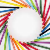 El color dibujó a lápiz el marco Imágenes de archivo libres de regalías