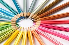 El color dibujó a lápiz la rueda Fotos de archivo libres de regalías