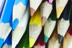 El color dibujó a lápiz macro Imágenes de archivo libres de regalías