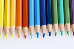 El color dibujó a lápiz macro Foto de archivo libre de regalías