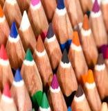 El color dibujó a lápiz macro Fotos de archivo