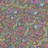 El color florece la ilustración Modelo inconsútil Vector Imágenes de archivo libres de regalías