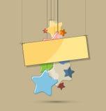 El color ligero abstracto stars el fondo para el cumpleaños Stock de ilustración