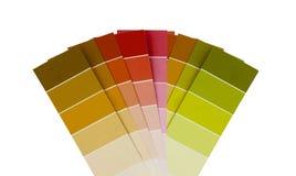 El color plástico Swatch aisló fotografía de archivo libre de regalías