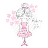 El color rosado de la bailarina floreció suavemente el ejemplo del vector libre illustration