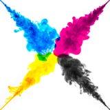 El color salpica de la tinta foto de archivo libre de regalías