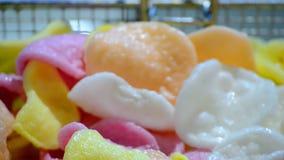 El color salta el primer, diversidad de los alimentos de preparación rápida, metrajes