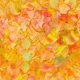 El color texturizado abstracto inconsútil del otoño del modelo del aceite deja el concepto, pintando en lona Ilustraciones de Imp stock de ilustración