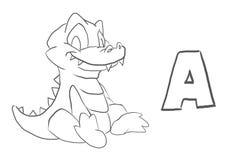 El colorante del alfabeto pagina el ` animal de la serie del ` stock de ilustración