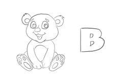 El colorante del alfabeto pagina el ` animal de la serie del ` libre illustration