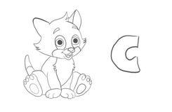 El colorante del alfabeto pagina el ` animal de la serie del ` ilustración del vector