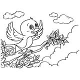 El colorante del pájaro pagina vector libre illustration