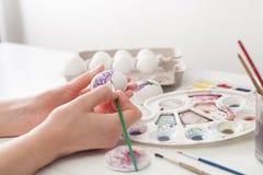 El colorante eggs los colores para Pascua, ejemplo botánico Imagen de archivo