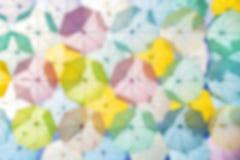 El colorear abstracto de los paraguas del fondo Fotos de archivo