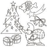El colorear - símbolo de los chritstmas Imagen de archivo libre de regalías