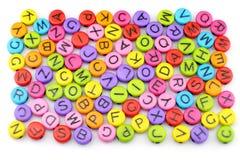 El colorido del alfabeto Imágenes de archivo libres de regalías
