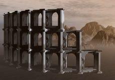El Colosseum en el desierto Fotos de archivo libres de regalías