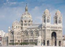 El comandante del La de Cathedrale una catedral católica en Marsella fotos de archivo libres de regalías