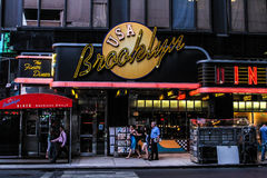 El comensal de Brooklyn, Manhattan, NYC Foto de archivo