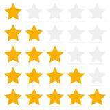 El comentario del cliente da una estrella cinco Concepto de la retroalimentación positiva stock de ilustración