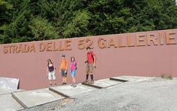 El comenzar del camino famoso de la galería también llamó el delle 52 de Strada imagen de archivo