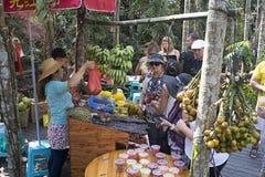 El comercio de frutas en China Imagenes de archivo