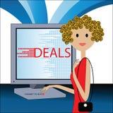 El comercio electrónico confía para comprar stock de ilustración