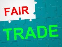 El comercio justo representa la exportación de la compra y del producto stock de ilustración