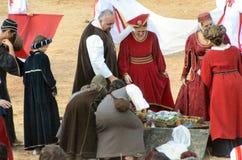 El comienzo de la trufa justa en Alba (Cuneo), se ha celebrado por más de 50 años, la raza del burro Imagenes de archivo