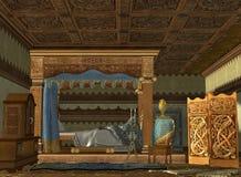 El compartimiento real de la cama ilustración del vector