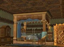 El compartimiento real de la cama stock de ilustración