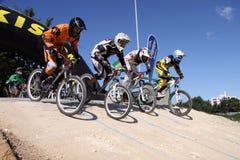 El competir con cruzado de la bici Imágenes de archivo libres de regalías