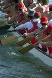 El competir con de barco de dragón Foto de archivo libre de regalías