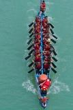El competir con de barco de dragón Fotografía de archivo