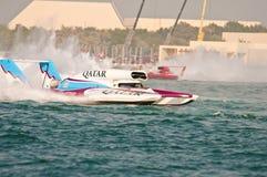 El competir con de barco del campeonato del mundo de la taza H1 del Oryx Foto de archivo libre de regalías