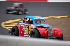 El competir con de coche de la leyenda Foto de archivo libre de regalías