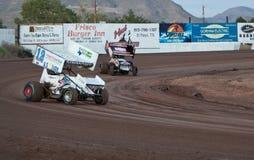 El competir con de coche de Sprint Fotografía de archivo