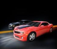 El competir con de coches Foto de archivo
