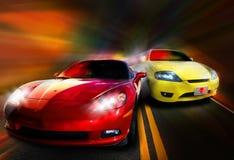 El competir con de coches imágenes de archivo libres de regalías