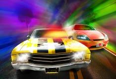 El competir con de coches Fotos de archivo