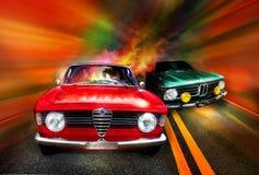 El competir con de coches Fotos de archivo libres de regalías