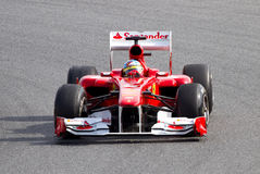 El competir con de Ferrari F1 Foto de archivo