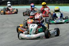 El competir con de Kart Imagen de archivo