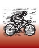 El competir con de la bicicleta Fotos de archivo libres de regalías