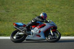 El competir con de la moto Imagen de archivo libre de regalías