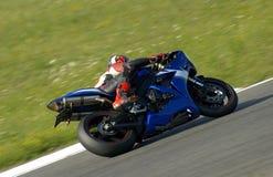 El competir con de la moto Fotografía de archivo