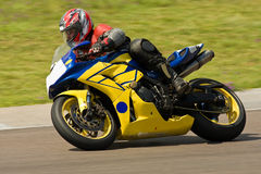 El competir con de la moto. Imágenes de archivo libres de regalías